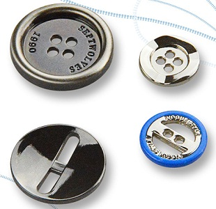 Alloy Button with Visible Hole