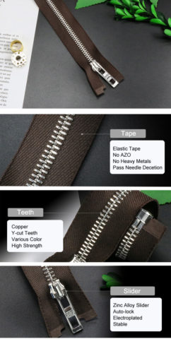 11-Metal Zipper With Elastic Tape