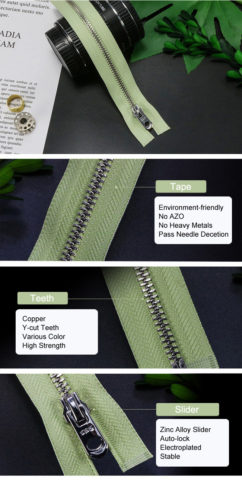 12-Environmental Metal Zipper