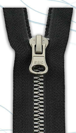 Plastic Zipper Imitating Metal 1