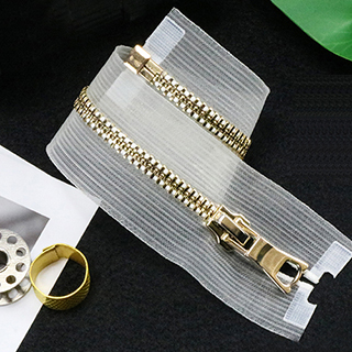 Metal Zipper With Fishing Net Tape