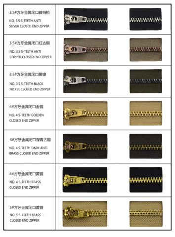 Standard Teeth Color for Jeans Zipper4