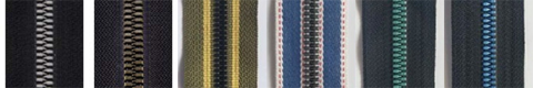 Plastic Zipper Imitating Metal 3